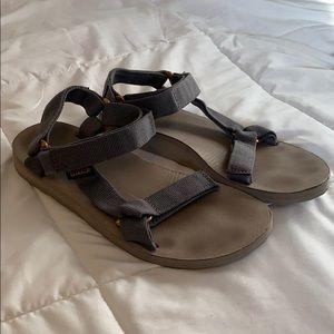 Teva grey & gold sandals